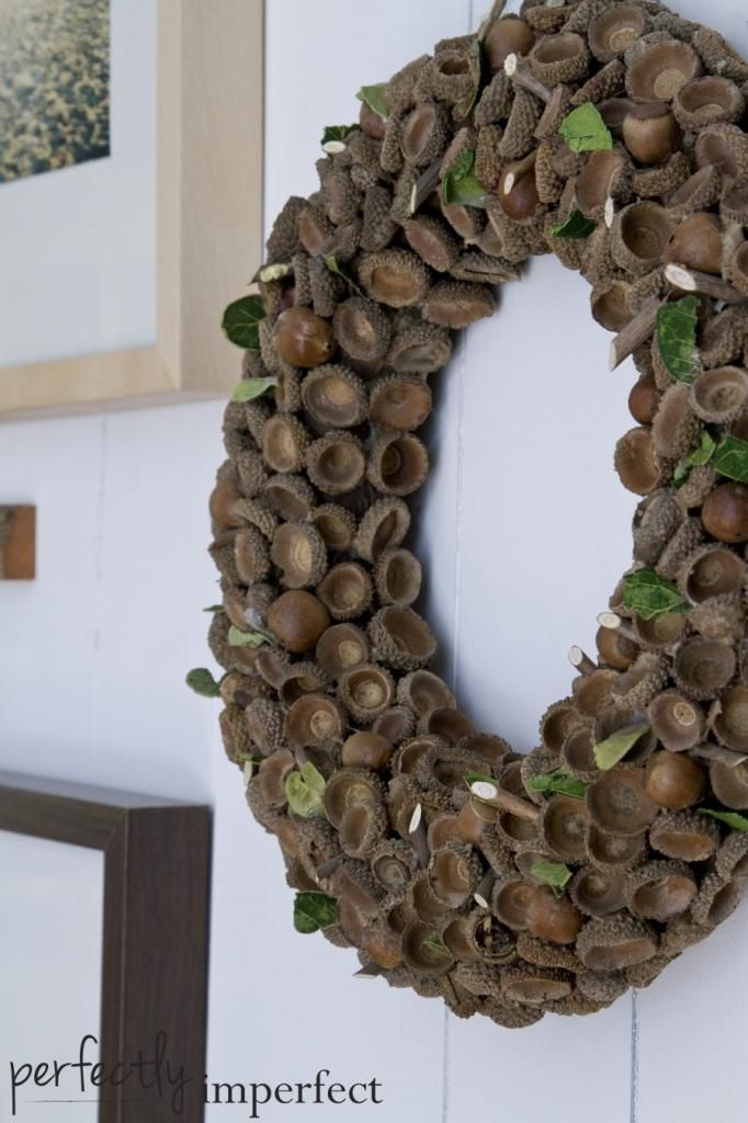 acorn wreath | perfectly imperfect