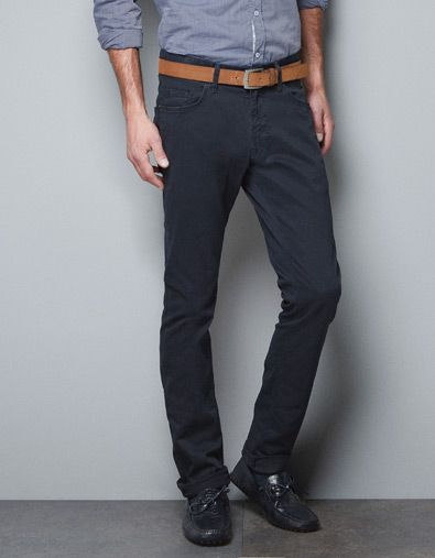 5 POCKET COMFORT TROUSERS - Jeans - Man - ZARA | style | Pinterest
