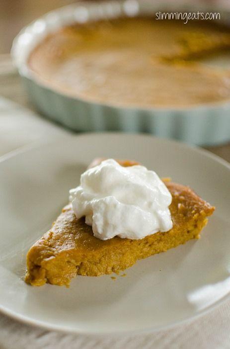 Crustless Pumpkin Pie   Slimming Eats - Slimming World Recipes