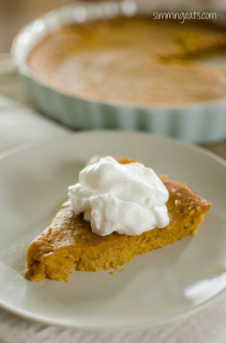 Crustless Pumpkin Pie | Slimming Eats - Slimming World Recipes