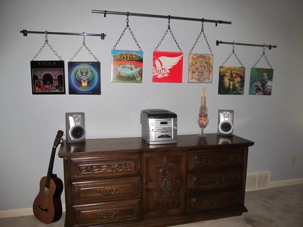 Hanging Album Covers Album Cover Decor In 2019 Wall