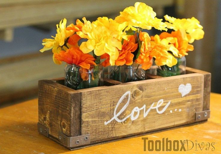 Build a Wooden Centerpiece for Fall