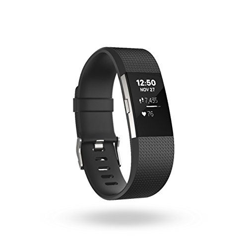 Fitbit Charge 2 Heart Rate + Fitness Wristband, Black, Sm...