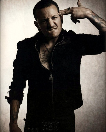 Chester Bennington... one of the coolest and most talented musicians in the world and a voice that can blow anyone away