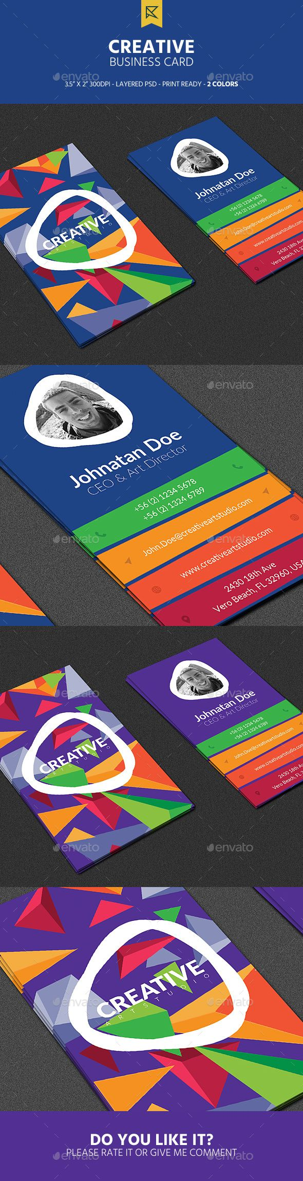 Creative Business Card - Creative Business Cards Download here : https://graphicriver.net/item/creative-business-card/18943551?s_rank=104&ref=Al-fatih