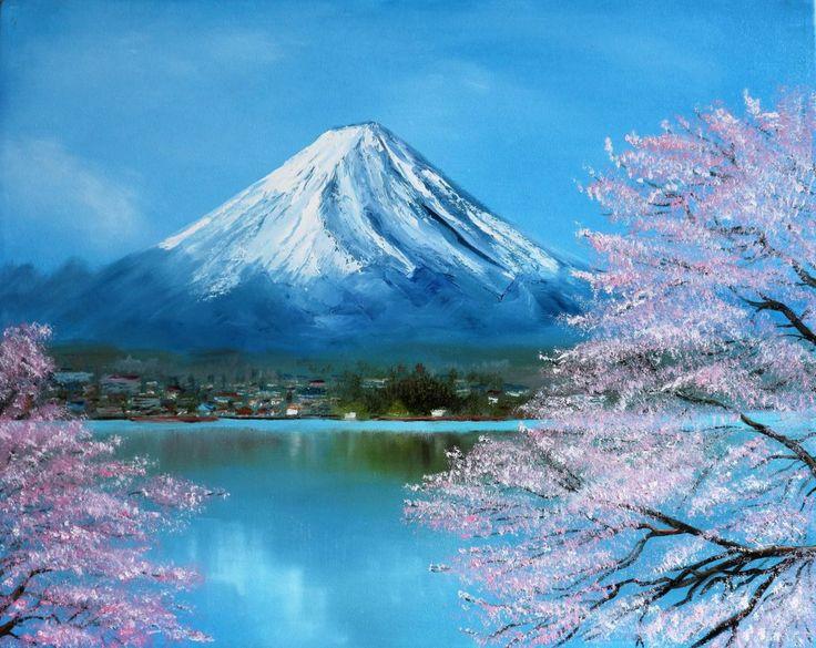 Пейзаж сакура картинки