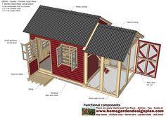 home garden plans: CB200 - Combo Plans - Chicken Coop Plans Construction + Garden Sheds - Storage Sheds Plans Construction