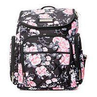 Laura Ashley 4-in-1 Floral Zip Around Backpack Diaper Bag - Black