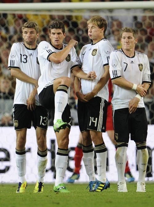 Thomas Müller, Mario Gomez, Holger Badstuber and Bastian Schweinsteiger