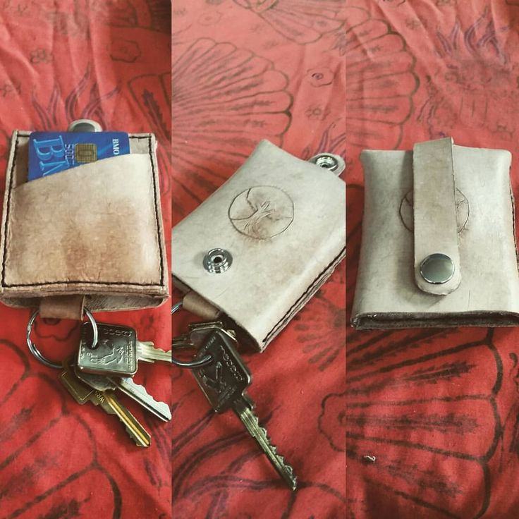 Now that I have keys in my life again. Will probably go with the mahogany stain when it comes in the mail. #leathercraft #wallet #keyholder