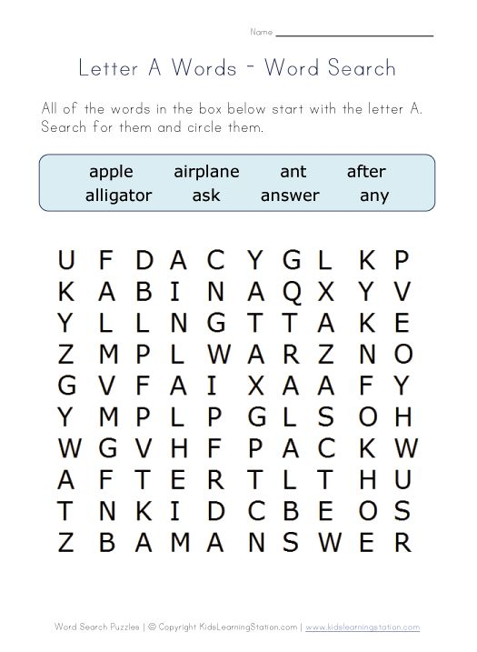 letter a word search places to visit pinterest word search alphabet words and alphabet. Black Bedroom Furniture Sets. Home Design Ideas