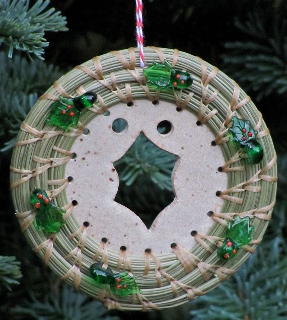 Basket Weaving Ornaments : Best images about pineneedles weaving on