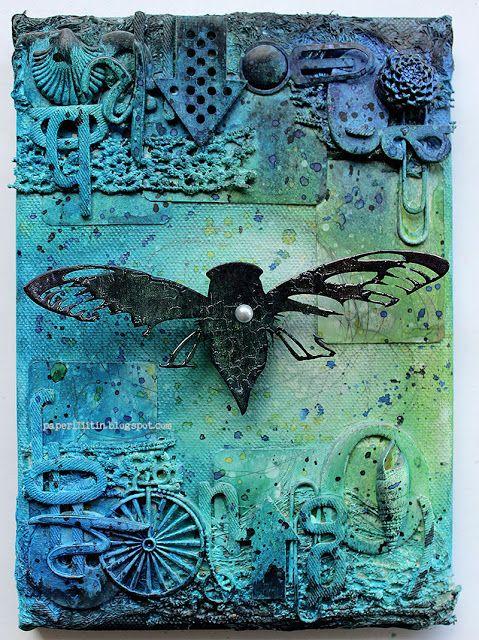 UmWowStudio: Oily Cicada {an Altered Canvas by Riikka}