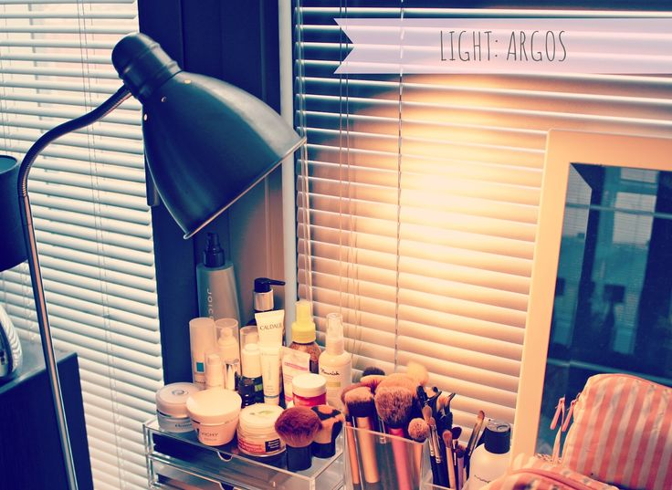 Dressing table set-up and storage.