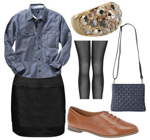 Denim shirt + Oxfords outfit by Admiral and Tea, via Flickr