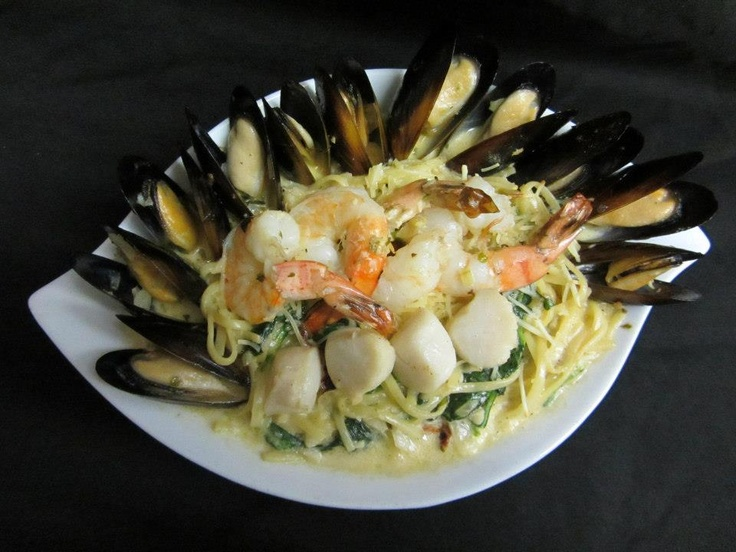Cattlemen's Club Seafood Linguini   Visit us at 9380 Highway 97 North, Vernon BC or call us at (250) 542 - 2178.
