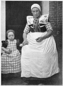 Vintage photo of The Netherlands region of Spakenburg (daily dress)