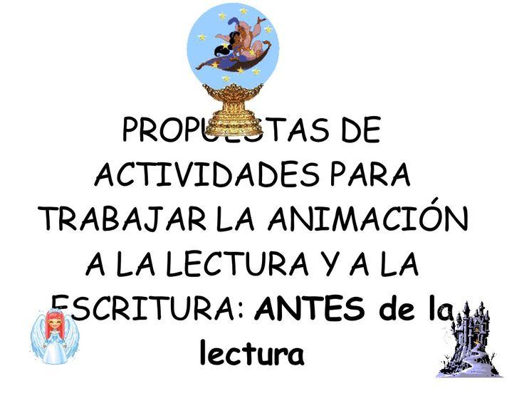 propuestas-de-actividades-para-trabajar-la-animacin-a-presentation by amalba via Slideshare