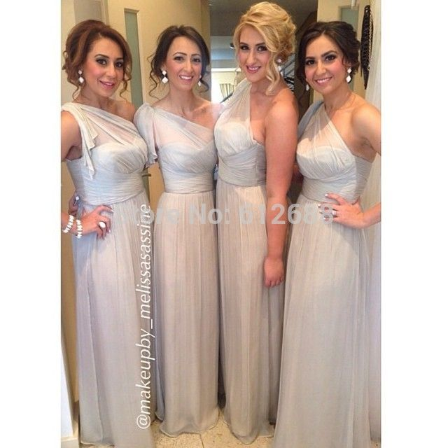 >> Click to Buy << dresses Fashion Scalloped One Shoulder vestido de festa Simple Wedding Party Dress Long Formal A-line Bridesmaid Dresses dresses #Affiliate