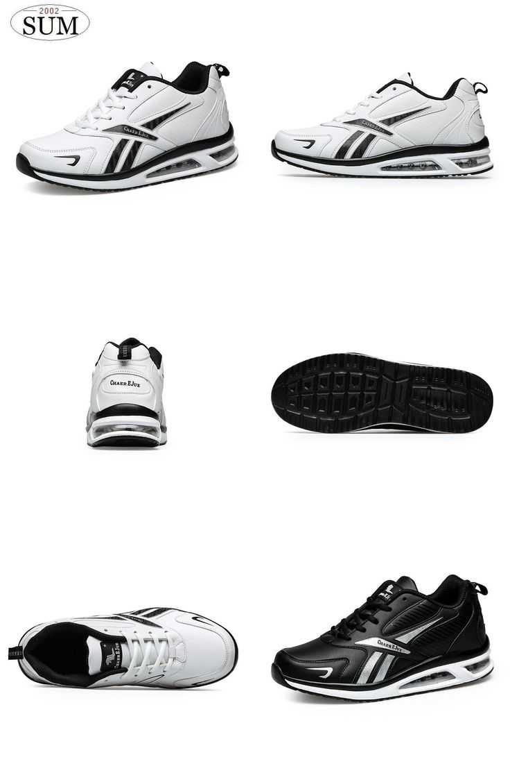 [Visit to Buy] light Runing men sneakers air sole comfortable DMX men's running shoes lace up brand design sport shoes white black color #Advertisement
