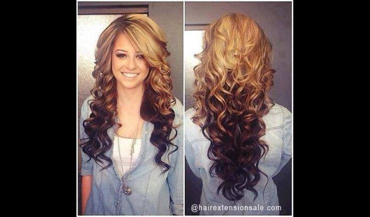 blonde hair with brown hair underneath hairstyles