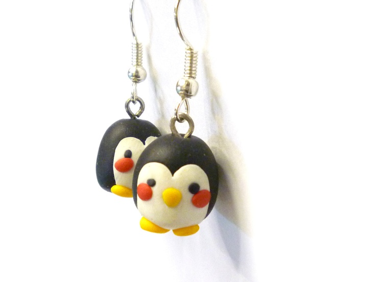 Kawaii Penguin Earring Animal Polymer Clay Earrings 10