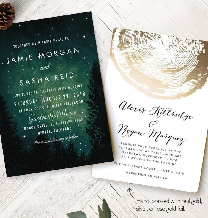 watch wedding invitation movie online eng sub%0A Get inspired by romantic forest wedding invitations designs from our  Minted u    s collection of wedding stationery and