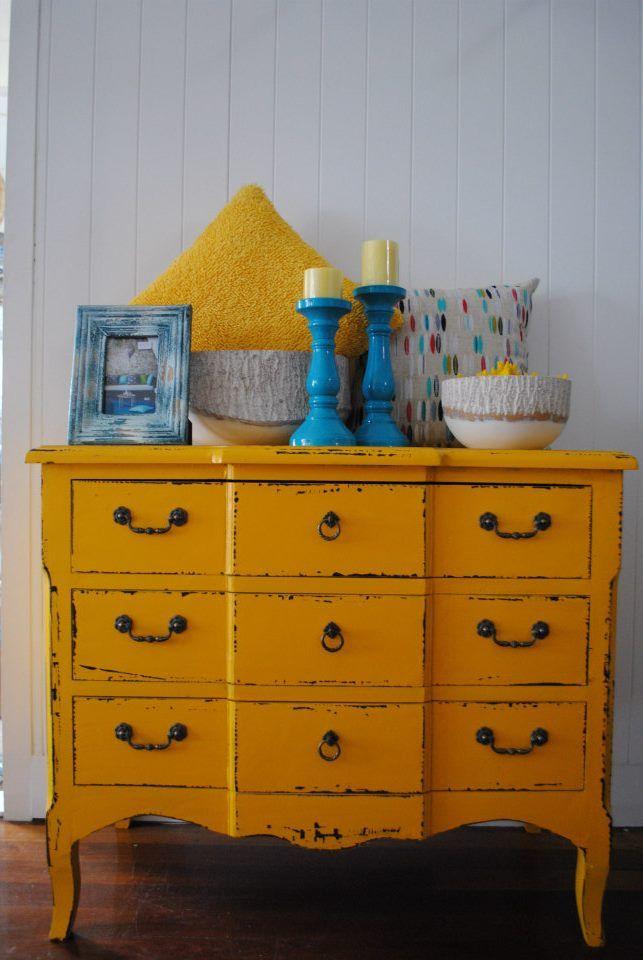 Treasured Interiors - Yellow Chest - $780