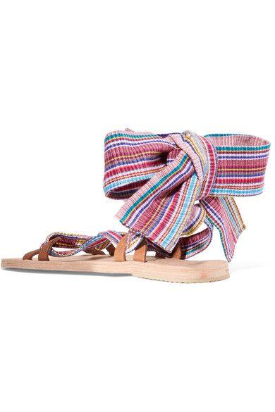 Brother Vellies - Zanzibar Woven Canvas Sandals - Beige - US10