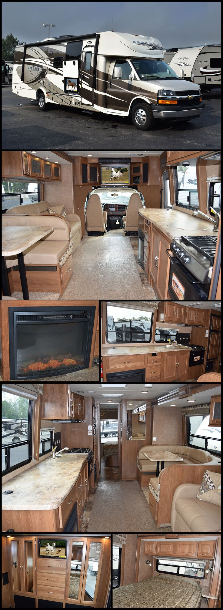 """The 2016 COACHMEN CONCORD 300DSC provides a luxurious and convenient solution to both traveling and RVing. This smart travel minded Class C is equipped and built with an attitude of providing the """"best"""" in form, fit and function. Outside the Concord boasts curved sidewalls with sleek stylish front and rear fiberglass caps that give the Coachmen Concord a distinctive high-end look and an aerodynamic, easy to drive profile."""