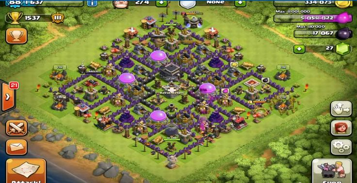 clash of clans base level 8 th
