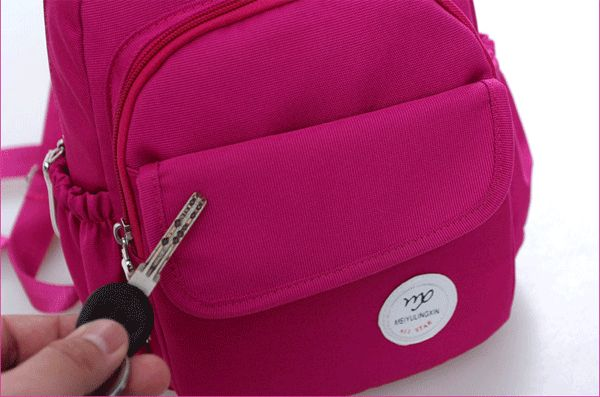 Mutifunctional Women Outdoor Canvas Casual Backpack Crossbody Bag