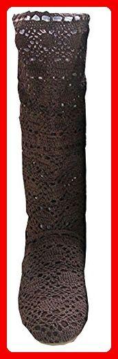 Sommer neue atmungs Stiefel kühlen Stiefel Damenstiefel Frühling Herbst Stiefel (EU39=CN40=25cm, braun) - Sandalen für frauen (*Partner-Link)