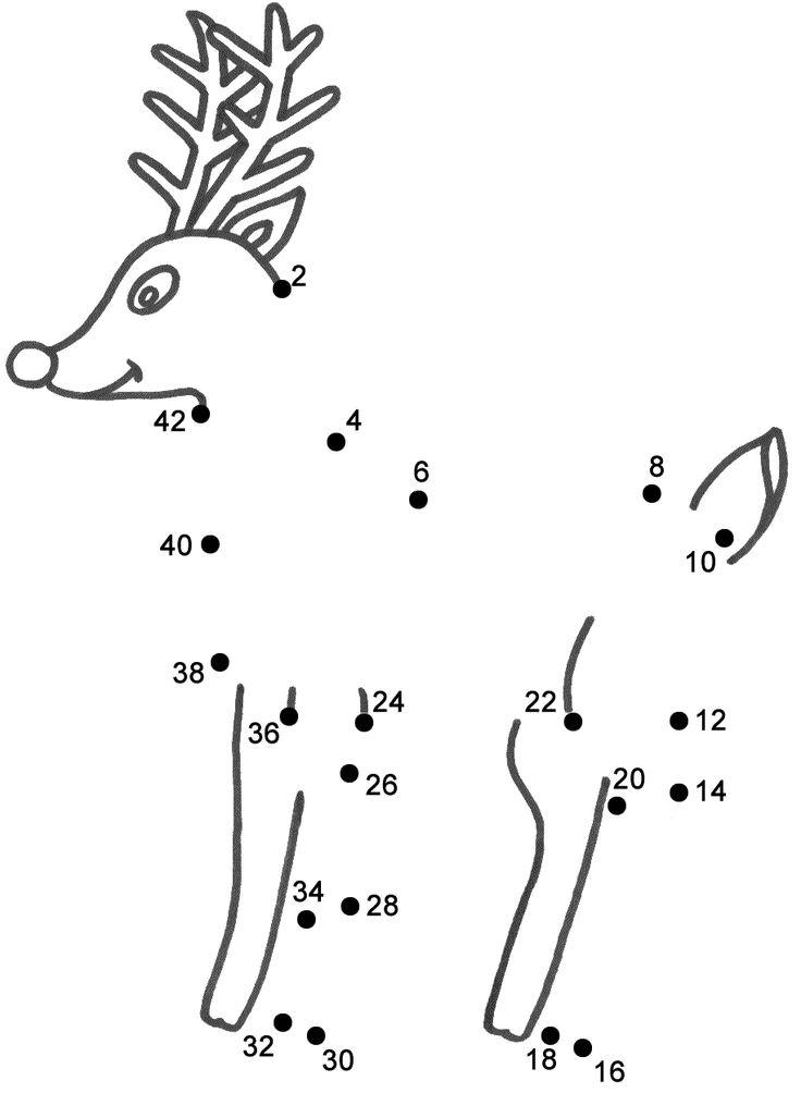 Reindeer Dot To Connect The DotsKids ColoringChristmas ActivitiesWinter