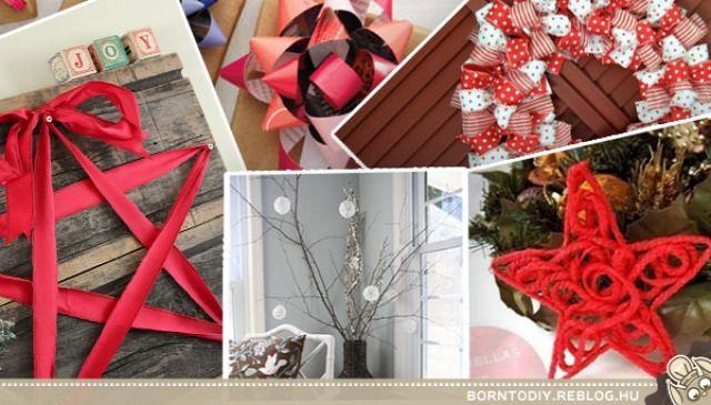 karácsonyi dekorációk és kreatív ötletek 1.rész