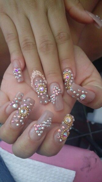 1000 images about 3d nail art on pinterest nailart for Pedreria swarovski para unas