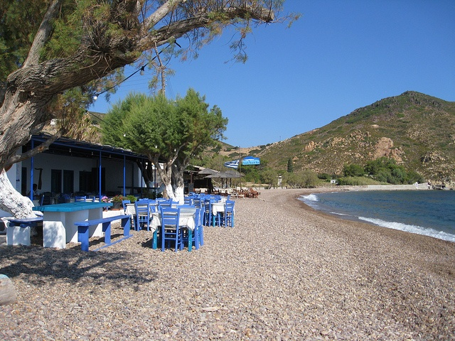Lampi Beach restaurant in Patmos...ate there many times in summer of 2012