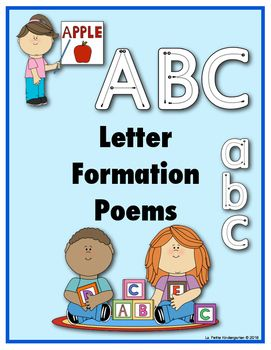 Use these poems as you teach your students how to write each letter.  After…