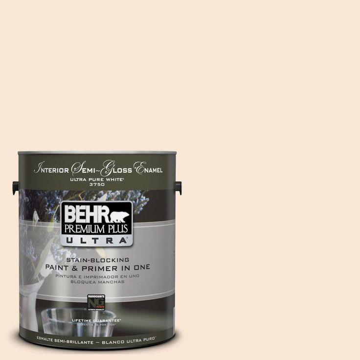 1-gal. #UL140-12 Cafe Cream Interior Semi-Gloss Enamel Paint