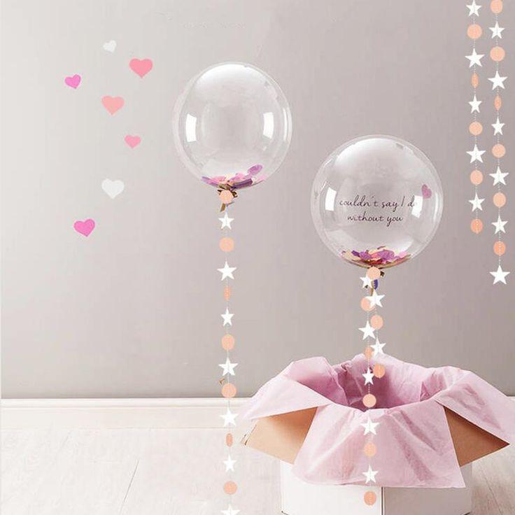 Длинные 4 м Свадебные украшения бумажный круглые и звезды бумаги гирлянды розовый синий день рождения Таблица Центральным вечеринок купить на AliExpress