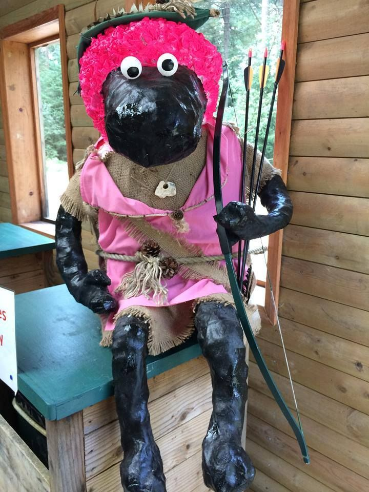 This #PinkSheep spent the summer enjoying archery at the Dalby Activity Centre in Dalby Forest.