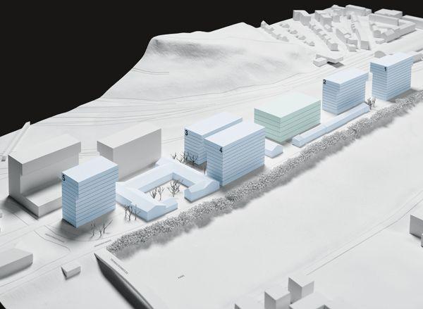Areal Bahnhof Nord im Modell