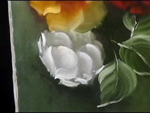 Painting Beautiful Roses and leafs - oil on canvas. Read full article: http://webneel.com/video/painting-beautiful-roses-and-leafs-oil-canvas | more http://webneel.com/video/paintings | more videos http://webneel.com/video/animation | Follow us www.pinterest.com/webneel
