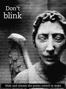 please don't actually blink i don't want to be responsible for someone's death -the image of an angel is an angel-