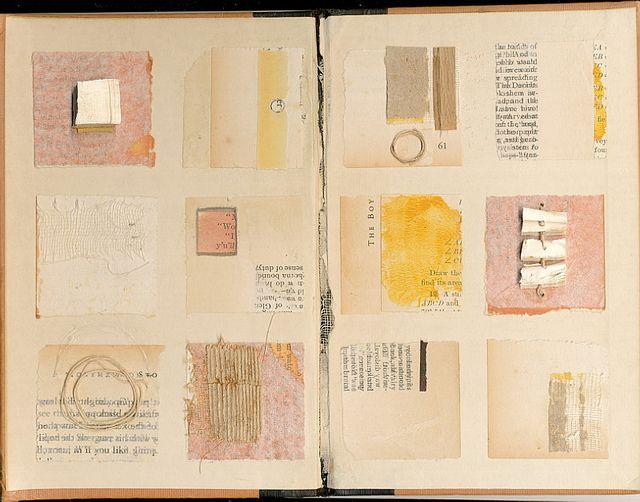 Interesting grid layout using unifying colors ~ artist Melinda Tidwell  #art #journal  #mytumblr