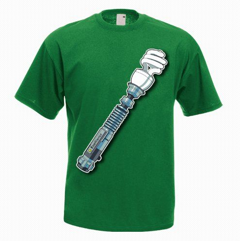 Eco Lightsaber Funny T-shirt - http://goo.gl/N36M19