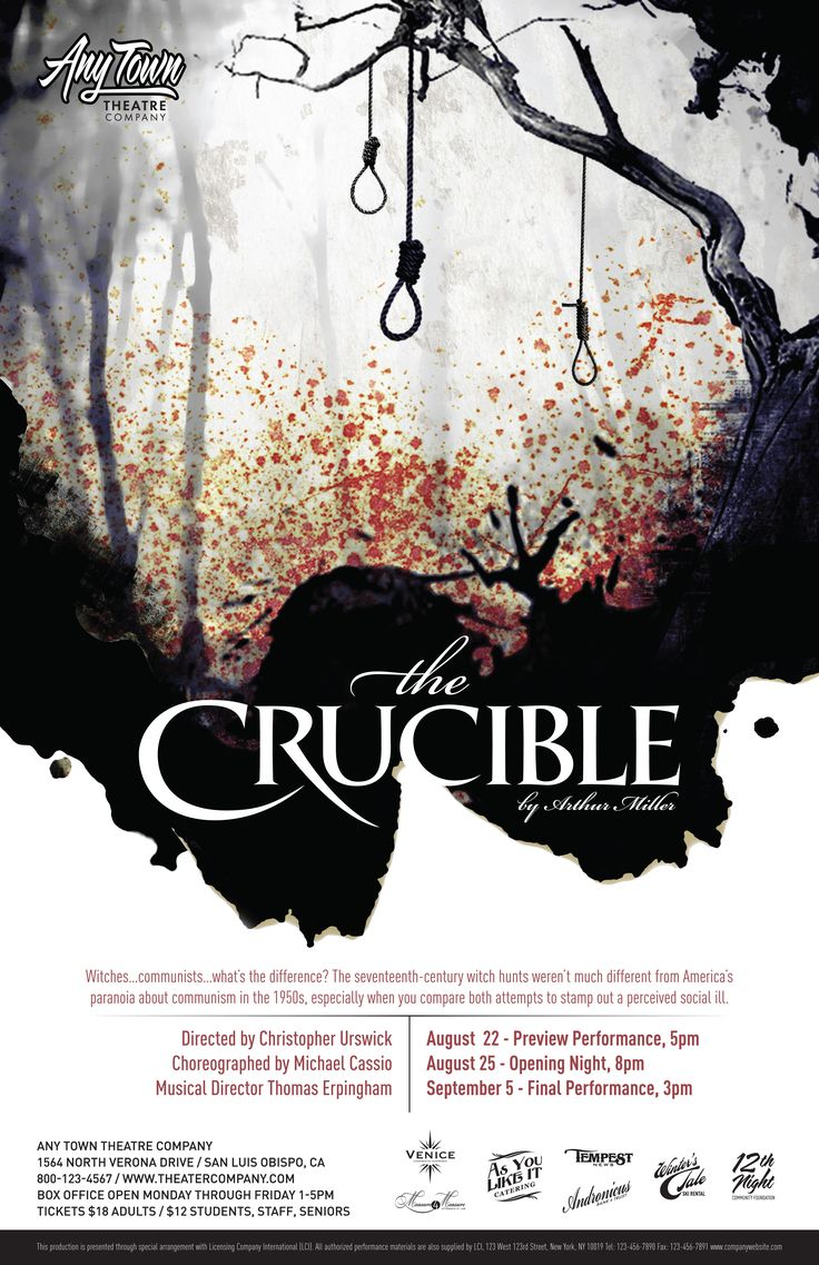 best images about theatre the crucible theatre subplot studio customizable poster design the crucible