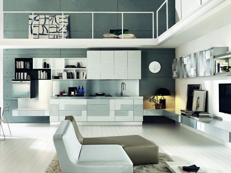 Fitted kitchen with Integrated Handles CREATIVA by Cucine Lube