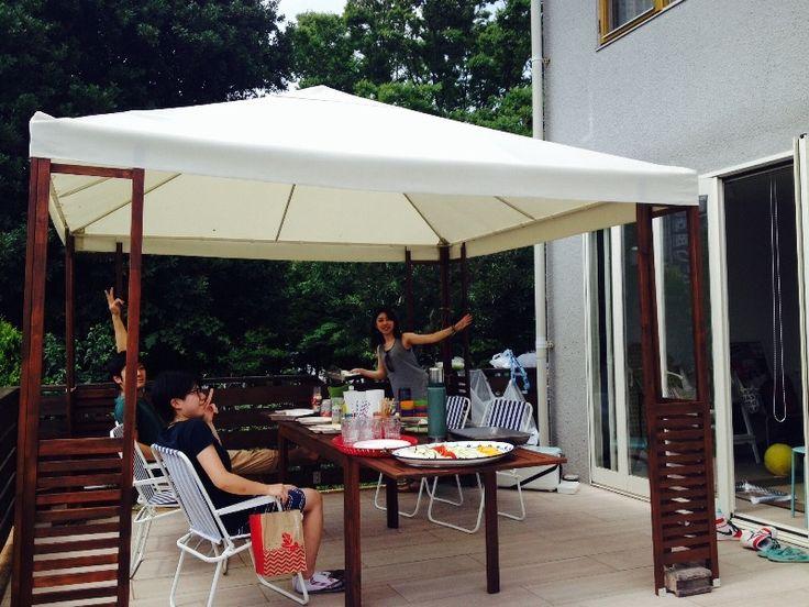 ガゼボでBBQ  kitchen studio picnic