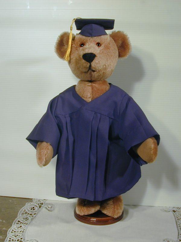 Collectible Mohair Teddy Bear Boy Grad